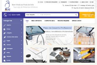 Nova versão da loja virtual Fruto de Arte, agora na plataforma Magento
